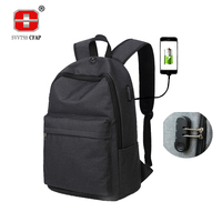 Password Lock USB Canvas Backpack Men Big Casual Music Backpacks Travel Preppy Middle School Student College