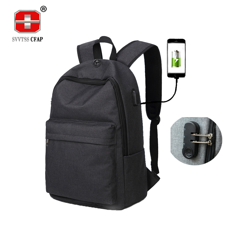 Anti theft backpack usb charging men school bag for teenagers boys Preppy canvas back pack male casual Schoolbag bagpack women ...