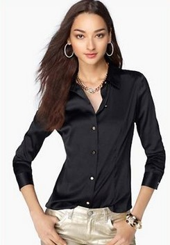 Aliexpress.com : Buy S XXXL women Fashion silk satin blouse button ...