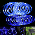 50 LED Solar Light Colorful Gledto 7M/23ft Power Rope Tube Lights Strip IP65 Waterproof Lamp for Outdoor Garden Party Decorative
