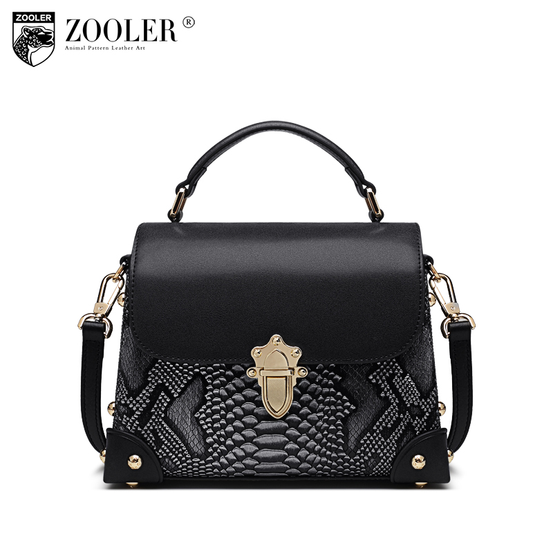 ZOOLER 2018 brand woman leather bag shoulder bag serpentine pattern classic handbag bags handbags woman famous brand bag#106 цифровой плеер digma b3 8gb синий b3bl