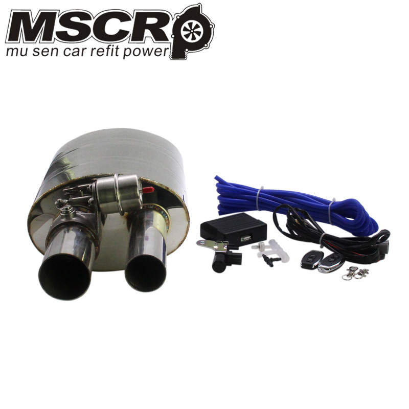 "Image 3 - Stainless Steel 2.5"" Straigh Outlet Tip 2.5""Inlet Weld On Single Exhaust Muffler with different sounds/Dump Valve Exhaust Cutout-in Mufflers from Automobiles & Motorcycles"