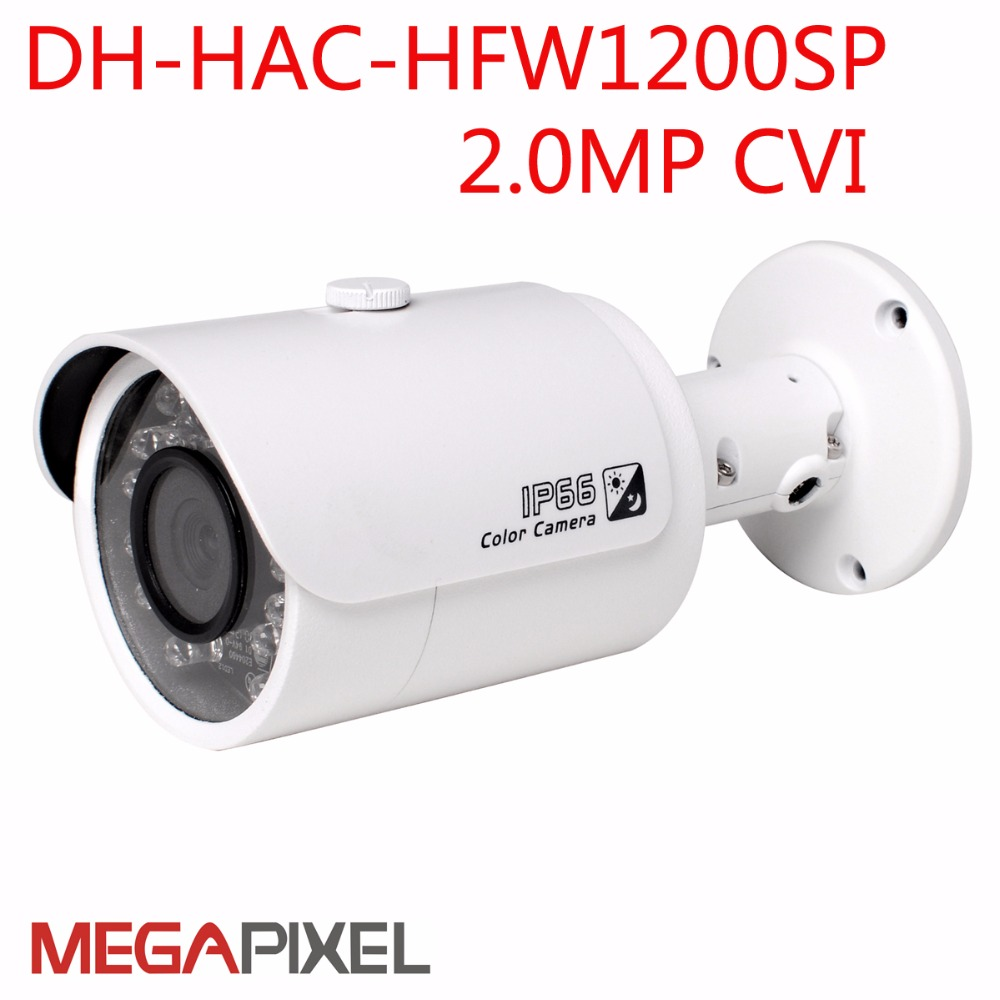 2mp HDCVI Camera 1080P cctv video surveillance security camera Dahua DH-HAC-HFW1200SP IR bullet outdoor IP67 dahua hcvr7208a s3 8ch h 264 1080p hdcvi dvr security system kit 8pcs dahua dh hac hfw1100s 960p ip67 ir hdcvi bullet camera