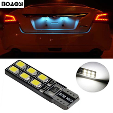 BOAOSI 1x T10 SMD 2835 Car LED License Plate Auto Canbus Light W5W 168 194 For Opel Adam Corsa C Corsa C Combo Corsa D Astra H