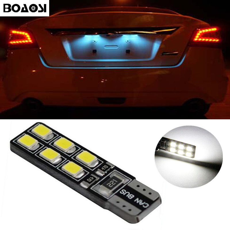 BOAOSI 1x T10 SMD 2835 Car LED License Plate Auto Canbus Light W5W 168 194 For Opel Adam Corsa C Corsa C Combo Corsa D Astra H motorcycle tail tidy fender eliminator registration license plate holder bracket led light for ducati panigale 899 free shipping