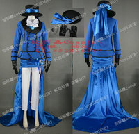 COS Black Butler Ciel Phantomhive blue dress Cosplay Costume