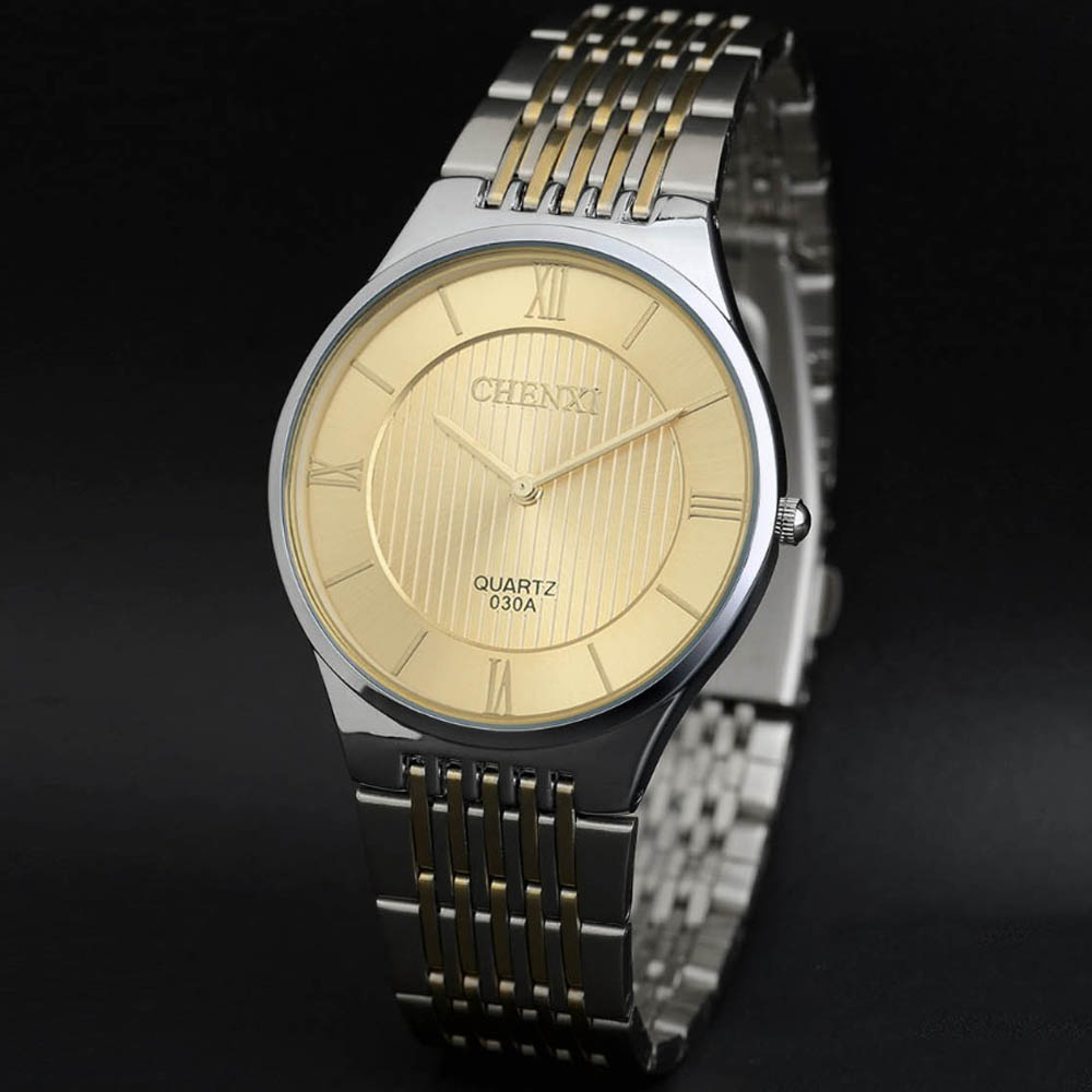 New men Simple Watch ultrathin luxury brand dress watches profession fashion casual steel gold quartz vintage