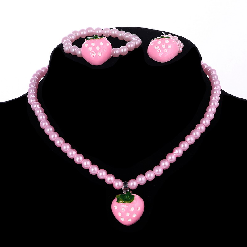 Fashion Children/'s jewelry Girls sweet wild Imitation Pearls Necklace Bracelet