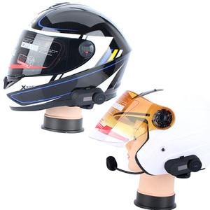 Image 5 - FreedConn TCOM SC Bluetooth motorfiets interphone headset helm intercom LCD scherm met FM radio + zacht oortje