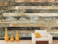 [Self-Adhesive] 3D Retro Wood Grain 028 Wall Paper mural Wall Print Decal Wall Murals