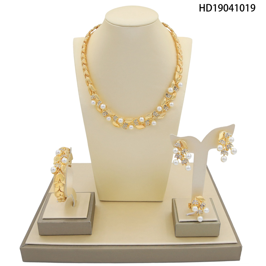 Yulaili New Wedding Jewelry Sets for Pretty Women Dresses Accessories Pearls Crystal Rhinestone Necklace Earrings SetsYulaili New Wedding Jewelry Sets for Pretty Women Dresses Accessories Pearls Crystal Rhinestone Necklace Earrings Sets