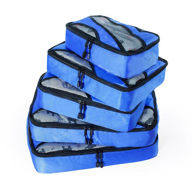 5Pcs Large Capacity Multifunctional Waterproof Travel Bag Package Women Leather Handbags Set Bolso De Viaje