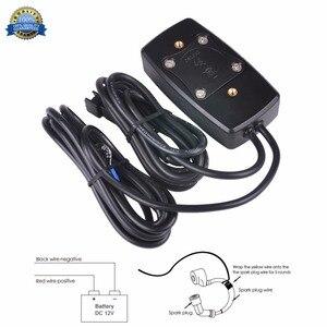 Image 2 - Stunde Meter LED Tacho Thermometer Temperatur Meter für Benzin Marine Außenborder Motorschirm Trimmer Grubber Pinne 035LT