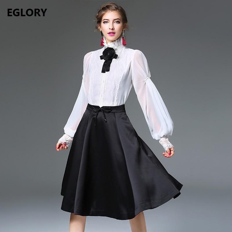3c654b53f Marke Bluse Femme Herbst Schwarz white Fashion Black Weiß Blusen ...