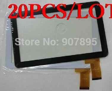 20 piezas 257X166 MM negro blanco DH-1007A1-Fpc033 DH 1007A1 Fpc033 10,1 pulgadas universal panel de pantalla táctil para tablet pc