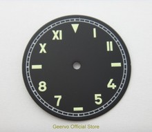 37.5mm GEERVO fashion sterile luminous Number black dial fit 6497 movement Men's watch dial 07A