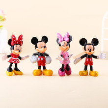 4 pcs/lot  Disney Action & Toy Figures Cute Mickey Minni