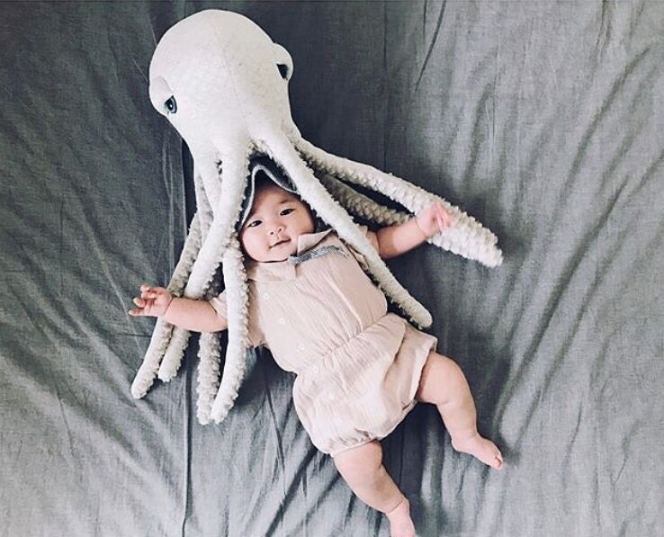 Kids Baby Decorative Pillow Baby Pillow Decorate Baby Room Decor Octopus Cushion Soft Infant Sleeping Doll Baby Plush Doll Toy flamingo plush toy pillow pink flamingo cushion baby girl princess room decoration kids doll girls gift home decorate