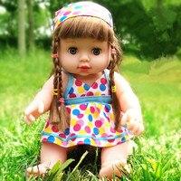Lifelike Boneca Reborn Vinil Silicone Macio Bebê Recém-nascido para o Presente Menina Meninas Do Bebê Brinquedos de Som Falando Brinquedo