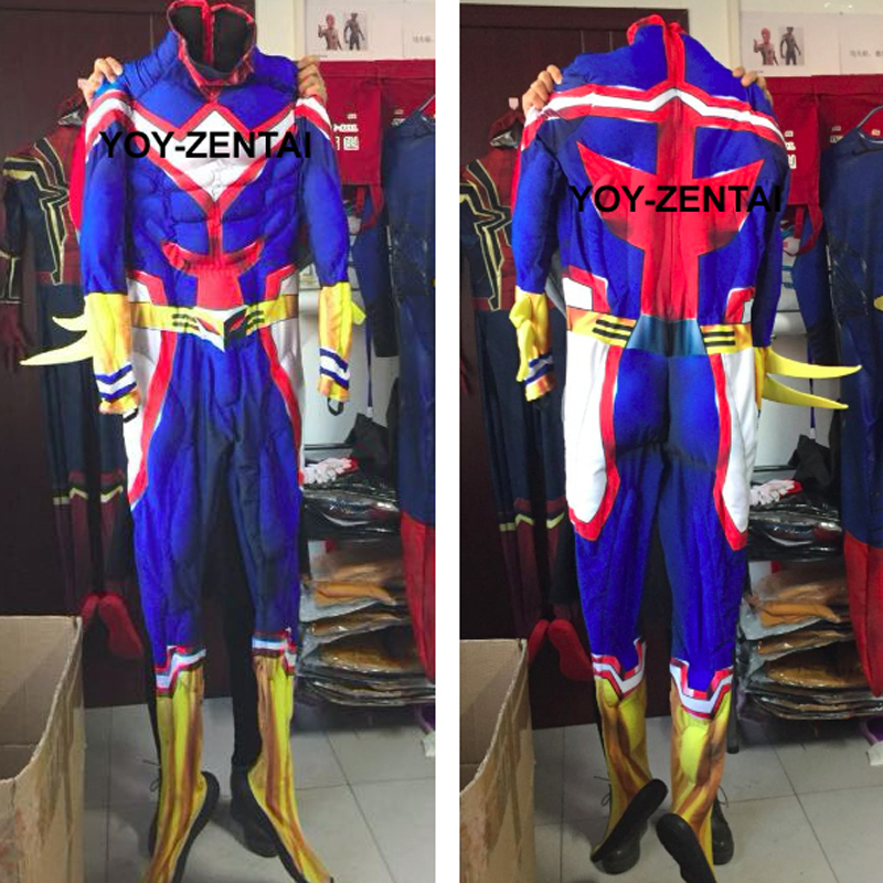 Movie Coser High Quaity Muscle Padding Cosplay Costume All Might Costume For Man All Might Cosplay Suit