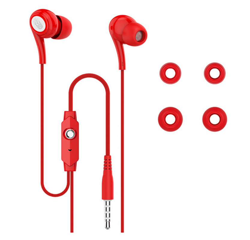 In-Ear Earphone Stereo Sound ABS Bass Headset Music Earpieces with Microphone for iPhone Xiaomi Samsung Sport JD91