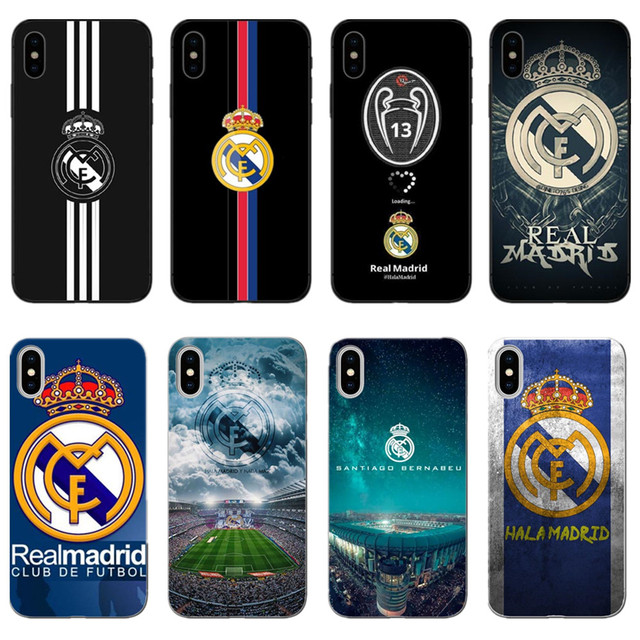 2b5ad117d6d Real Madrid LOGO soft TPU phone cover for iPhone X10 XS XR MAX SE 5 5S 6 6  Plus 7 7 Plus 8 Plus