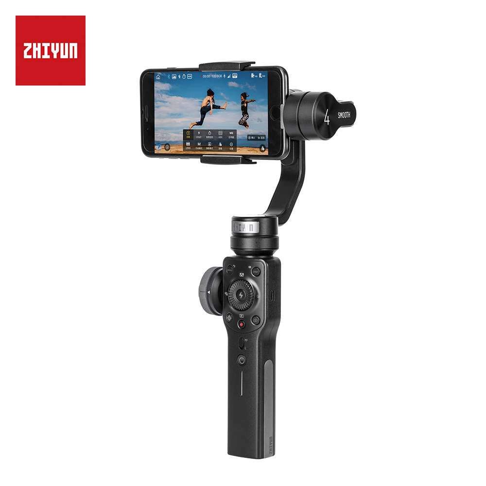 ZHIYUN Official Smooth 4 3-Axis Handheld Gimbal Portable Stabilizer Camera Mount for Smartphone Iphone Action Camera zhiyun z1 smooth c multi function 3 axis handheld steady gimbal ptz camera mount stabilizer tripod holder for iphone smartphone