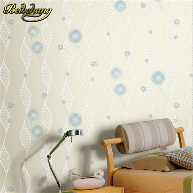 beibehang papel parede papel mural Arrival Romantic Warm Dandelion Wedding Decor 3D Wallpaper Wallpapers Mural Floral Wall Pape beibehang papel parede 3d romantic dandelion wedding decorative wallpaper non woven floral 3d wallpapers mural wall paper roll