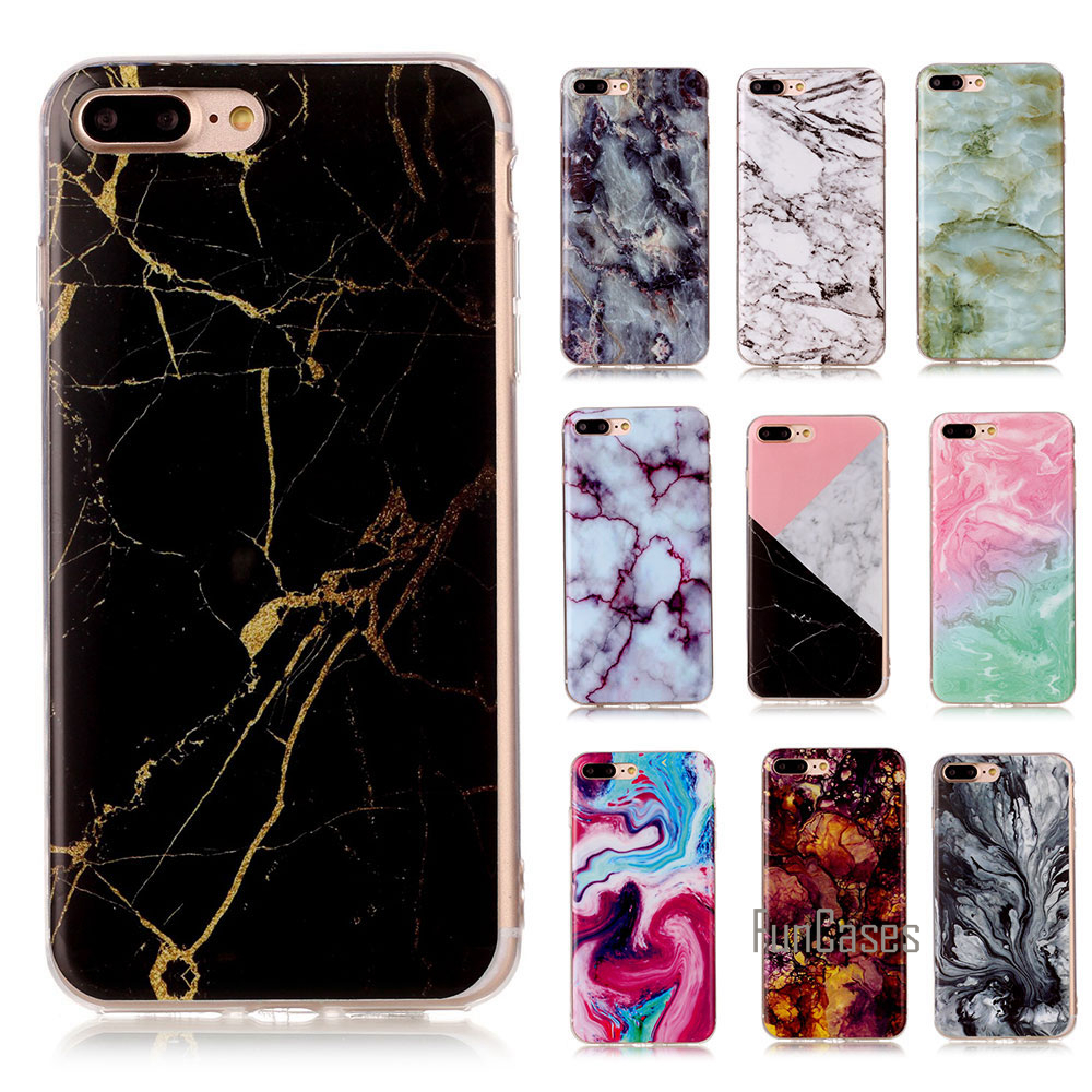 Soft TPU Case For iphone 4 5 5s 5C 6 6S Plus New Arrival Granite Scrub Marble Stone image Painted Phone Cases For iphone 7 7plus ...