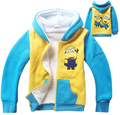 New Winter Children Jacket Cartoon Despicable Me Kids Hooded Coats Thick Cotton Warm Fleece Boys Outerwear t-c016