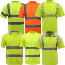 e0103a169 Verano alta visibilidad seguridad trabajo camisa transpirable TRABAJO ROPA  seguridad reflectante camiseta seguridad polo envío gratis