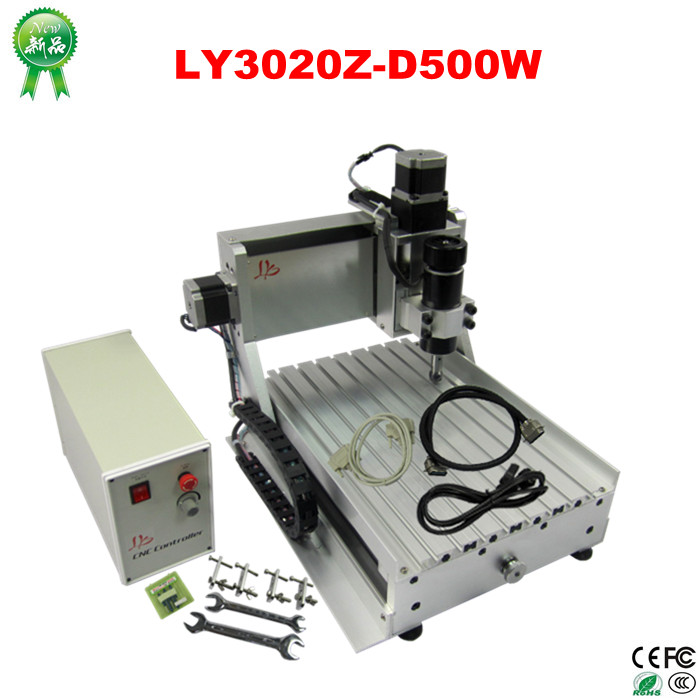 CNC Router Engraver/Engraving Drilling and Milling Machine LYCNC3020Z-D500W 3axis  цены