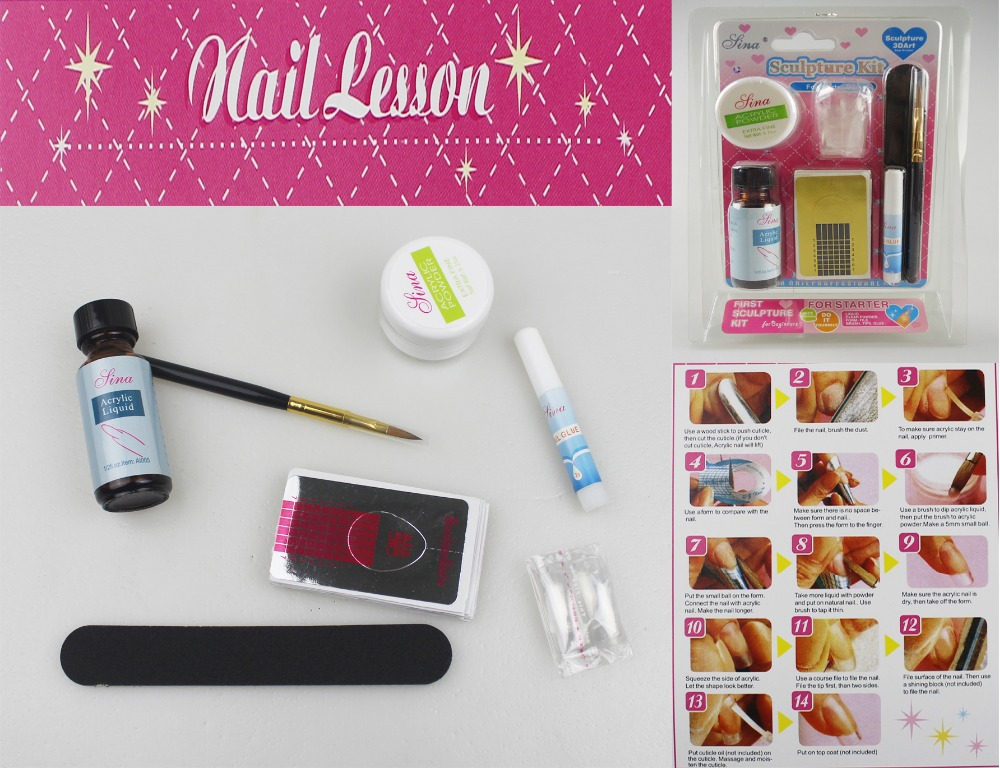 Acrylic Nail Kit Manicure Professional DIY Herramientas Set Nails ...