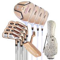 PGM Women's Golf Club Sets with Bag (13 Piece) Standard Package Putter +4PCS Woods +8 PCS Irons Bar Gold Edition Complete