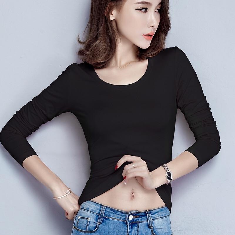 New T Shirt Women Long Sleeve Winter Tops Fashion 2020 T-shirts For Women Thermal Underwear Female T-shirt Camisas Femininas 1