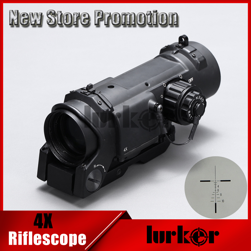 Tactical 4x Collimating Optical Rifle Scope/ Red Dot Riflescope/ Electro Dot Sight Magnifiner Scopes For Air Rifle Hunting