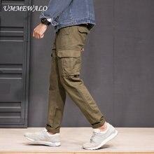 UMMEWALO/брюки-карго с несколькими карманами; мужские военные тактические брюки-карго; мужские спортивные брюки для тренировок; качественные хлопковые повседневные брюки