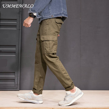 UMMEWALO Multi Pockets Cargo Pants Mens Military Tactical Cargo Pant Men Workout Sweatpants Quality Cotton Casual Trousers Cargo Pants