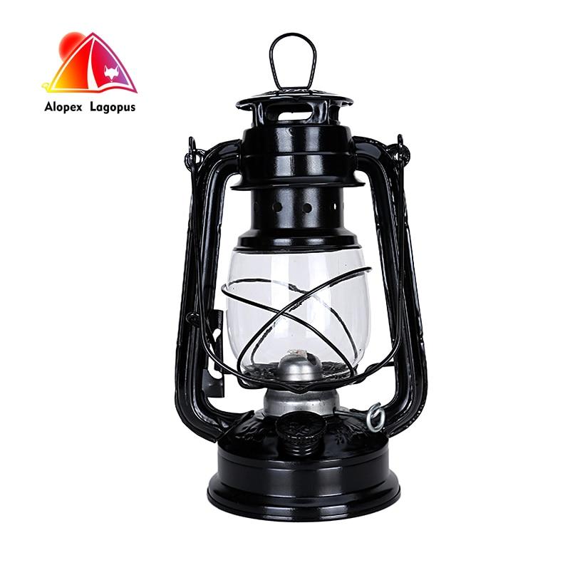 25cm Retro Klassieke Kerosine Lamp 6 Kleuren 235 LED Dimbare Kerosine Lantaarns Lont Draagbare Draagbare Verlichting Versiering