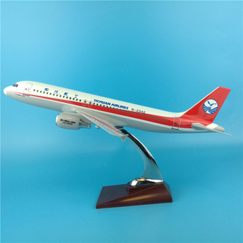 37cm Resin Sichuan Airlines Aircraft Model A320 Airplane Airways Airbus Model Aviation Home Decoration Creative Holiday Gifts