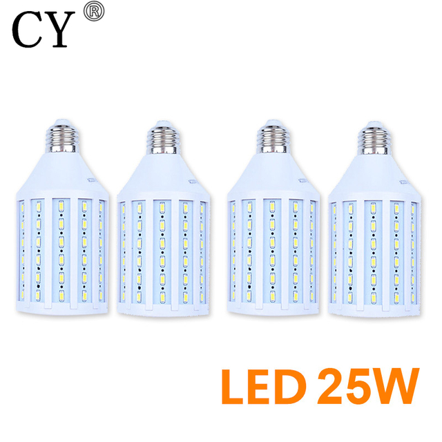 4pc 25W LED Corn Bulb E27 220V 5730 SMD LED Video Light Corn Lamp Bulb & Tubes Photographic Lighting