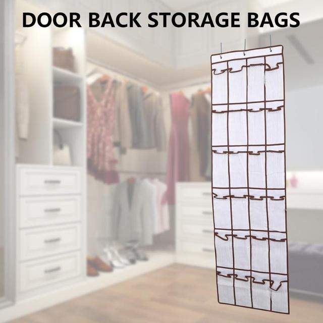 4 24 Pockets Door Hanging Organizer Shoes Storage Bag Closet Holder  Multifunctional Storage Bags Pouch