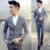 2017 Meninos Ternos Para Casamento 3 Pçs/set (Jacket + Colete + Calça) Mais Recente Projeto da Manta Traje Smoking do baile de Finalistas Mariage vestido de Terno de Negócio Magro