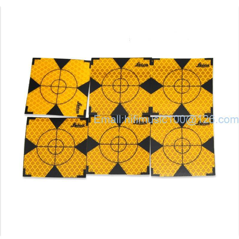 100pcs Yellow Reflector Sheet 50 x 50 mm Reflective Tape Target for Total Station