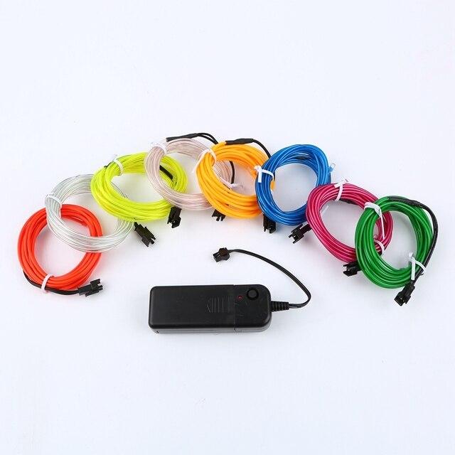 1 m/3 m/5 M 3V Flexible néon lueur EL câble bande câble bande LED néons chaussures vêtements voiture LED étanche bande nouveau 3