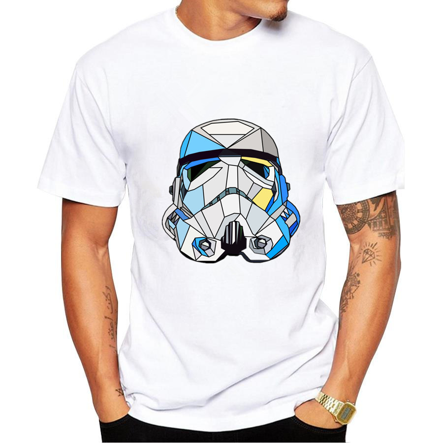Shirt design companies - 2017 New Fashion Summer Design Funny T Shirt Homme Star Wars Print Stormtrooper Darth Vader Mens T Shirt For Man Plus Size