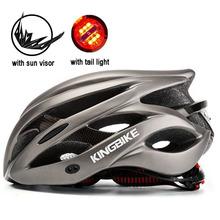 KINGBIKE kaski rowerowe kask rowerowy kobieta mężczyzna podświetlenie LED kaski rowerowe abus kask cascos de ciclismo casque cyclisme tanie tanio L-62MV 235-245G Formowane integralnie kask 20 (Dorośli) mężczyzn Bicycle helmet Mountain bike helmet Insect Net Helmet Equipped