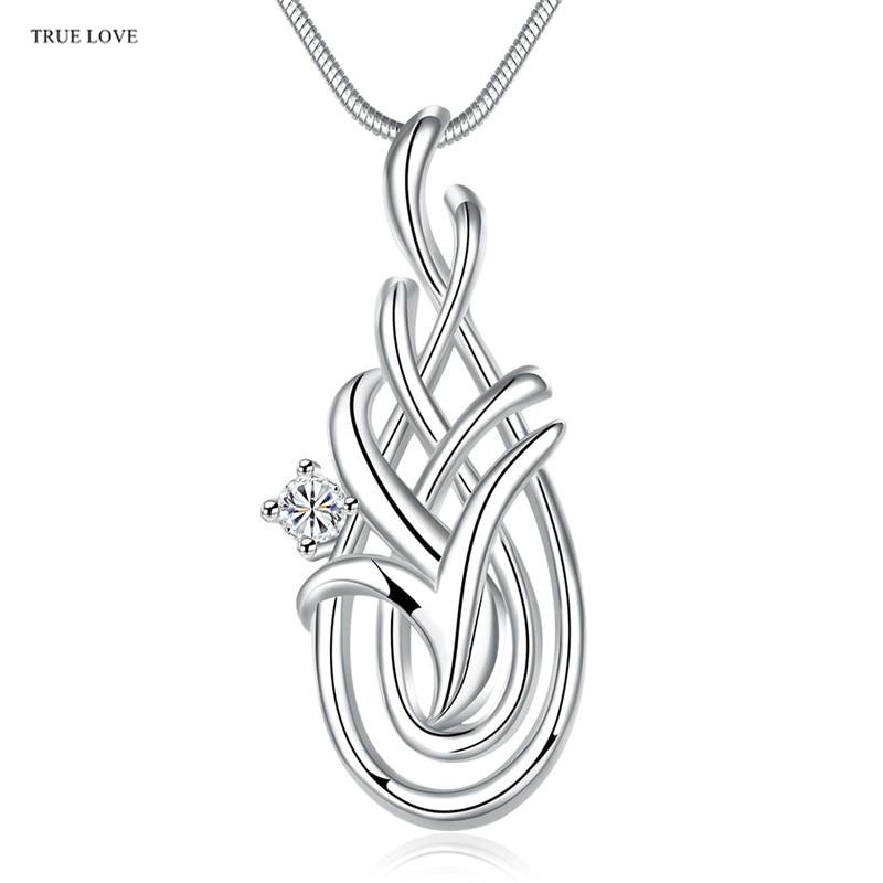 f517b38eb583 Plata caliente geométrico colgante collar con ZIRCON moda joyería partido  estilo bastante lindo de la calle Regalo de Cumpleaños precio de fábrica