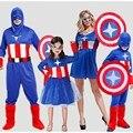 Хэллоуин Аниме капитан Америка набор щит COS костюм взрослых Мужчин и женщин капитан Америка одежды родитель-ребенок снаряжение