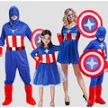 Halloween Anime captain America set shield COS costume Male and female adult captain America clothes parent-child outfit